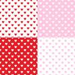 Valentines seamless patterns