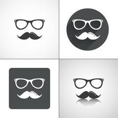 Hipster icons. Set elements for design