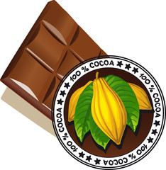 chocolate with seal of Quality - vector quality label