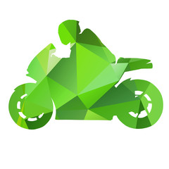 Vector abstract isolated motorbike
