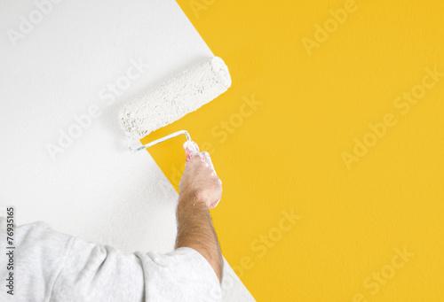 Leinwandbild Motiv Wände streichen
