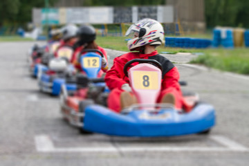 race go-kart blur effect