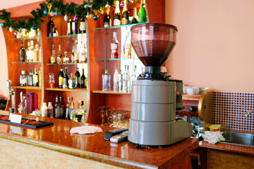 coffee machine in the bar