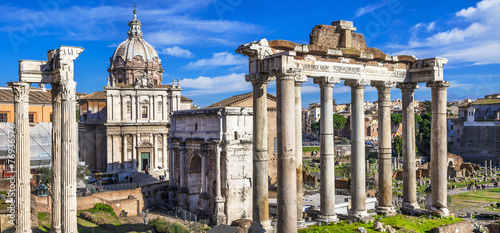 Ancient Ruins of Rome - Imperial Forum - Italy