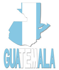Guatemala map flag and text illustration