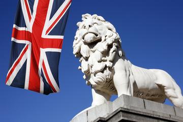 Westminster Bridge Lion Statue