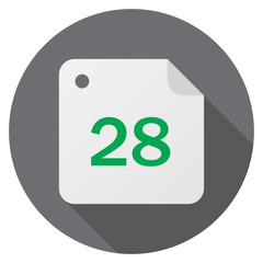 Calendar, date, 28 day month