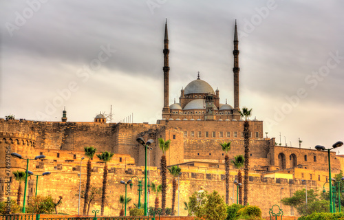 Poster The great Mosque of Muhammad Ali Pasha in Cairo - Egypt