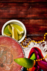Background: Focus on Margarita and Glass