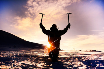 buz tırmanış dağcısı