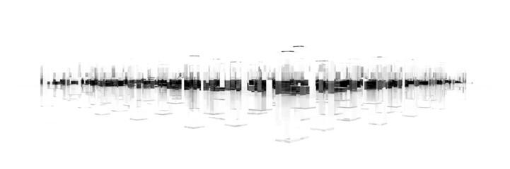 abstract blocks city