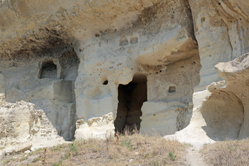 Chufut-Kale cave city-fortress, Bakhchysarai, republic Crimea