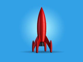Rakete rot stehend