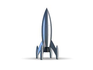 Rakete silber stehend