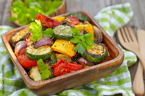 Fotobehang Salade Grilled vegetables