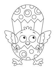 coloring book with easter symbols