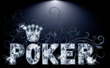 Diamond poker card, vector illustration