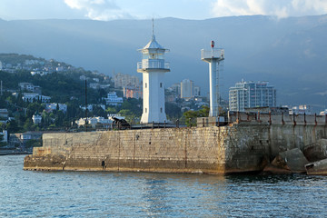 Lighthouse. Yalta city, republic Crimea