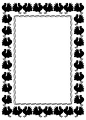 Vector frame with pigeons silhouettes