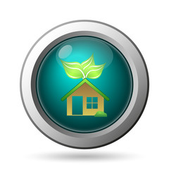 Eco house icon