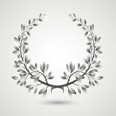 Vector silver laurel wreath