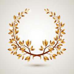 Vector gold laurel