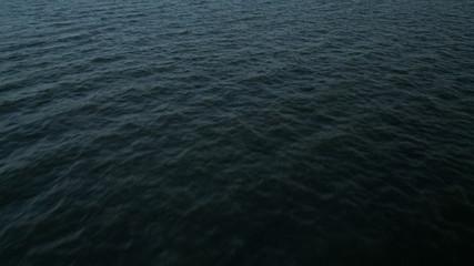 Aerial overwater low level Ocean view