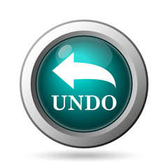 Undo icon. Internet button on white background..