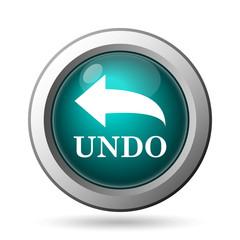 Undo icon. Internet button on white background..
