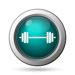 Weightlifting icon. Internet button on white background..