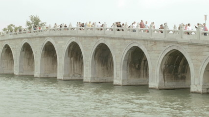 17 Arch Bridge Summer Palace Kunming Lake Beijing China Asia