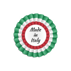 """""""Made in Italy"""" rosette with Italian flag's colors"""