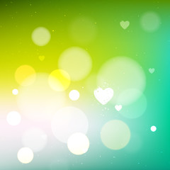 Green bright abstract background
