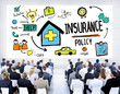 Diversity Business People Insurance Policy Seminar Concept