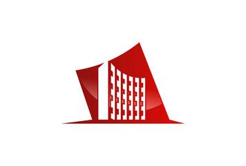 modern building vector logo