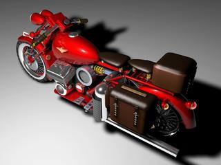 Moto vintage rossa