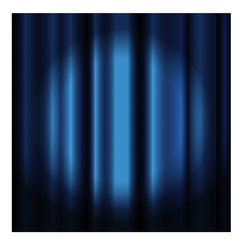 Theater curtain with spotlight -blue