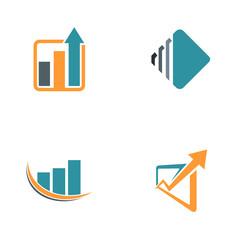 finance arrow chart logos