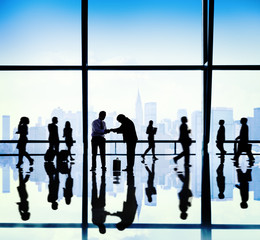 Business People Asian Office Meeting Concept