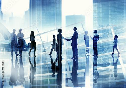 Business People Discussion Communication Cityscape Concept - 76946710