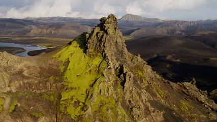 Aerial Mountain Region Highlands Wilderness Volcanic Area Tourism Iceland