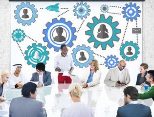 Community Team Partnership Collaboration Support Concept