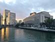 canvas print picture - Sonnenuntergang in der Stadt