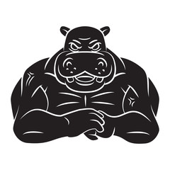 Hippo strong mascot Tattoo