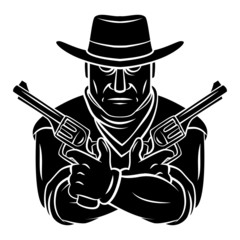 Cowboy Mascot Tattoo