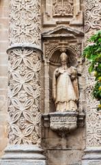 Closeup of Church of San Miguel