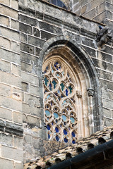 Old window of Church of San Miguel