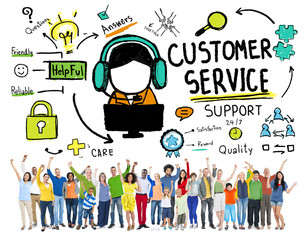 Customer Service Assistance Service Help Team Concept