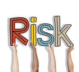 Risk Word Concepts Isolated on White Concept