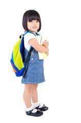 Cheerful asian kindergarten student